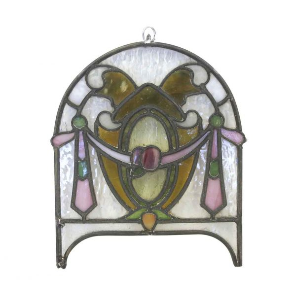Other Wall Art  - 1940s Petite Stained Glass Window Hanging Art