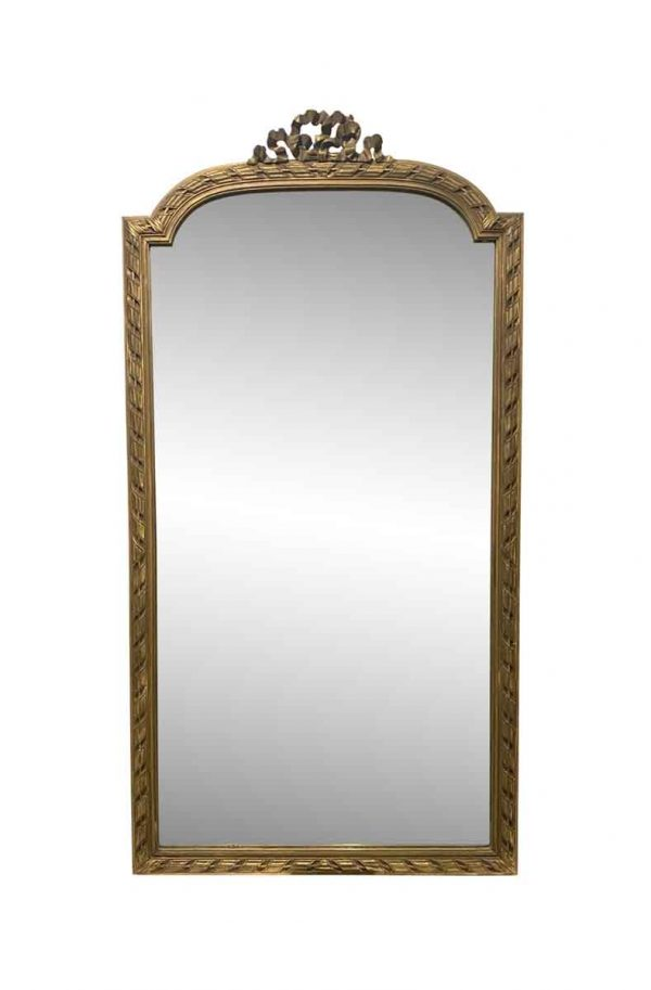 Overmantels & Mirrors - Louis XVI Style Gilted Wood Mirror