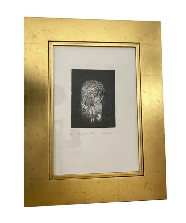 Prints - Renee Farca 'Looking into the Future' Gold Framed Print