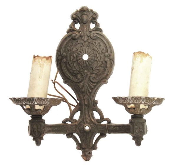 Sconces & Wall Lighting - Antique Victorian 2 Arm Ornate Wall Sconce