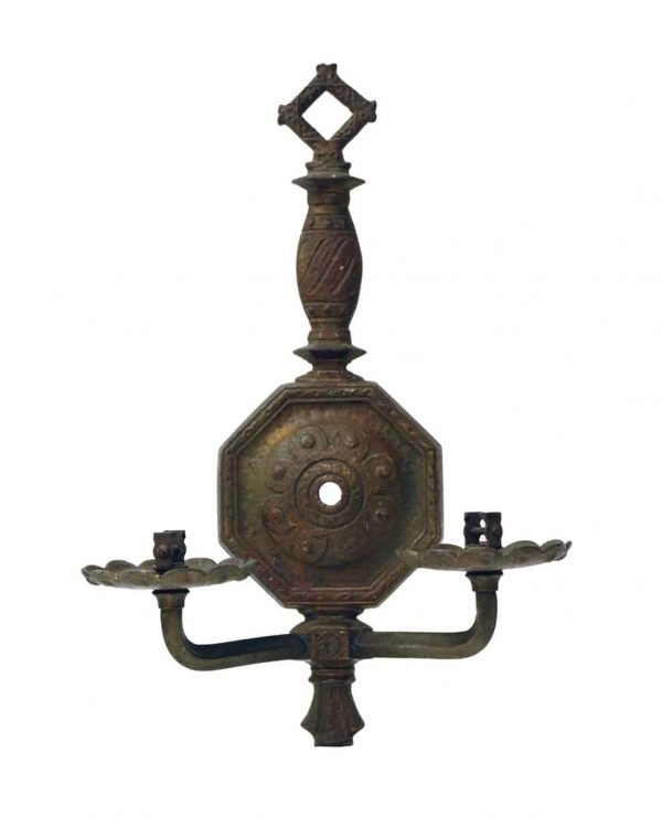 Sconces & Wall Lighting - Antique Victorian Bronze 2 Arm Wall Sconce
