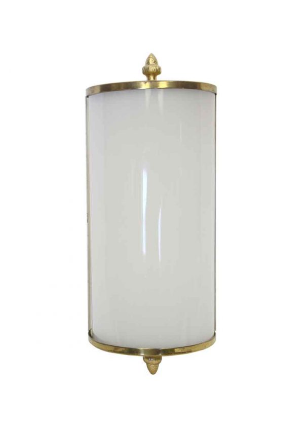 Sconces & Wall Lighting - Modern Brass & White Glass Pineapple Finial Wall Sconce