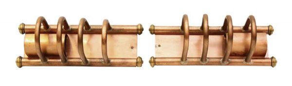 Sconces & Wall Lighting - Pair of Mid Century Copper Wall Sconces