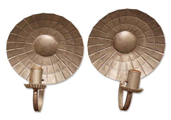 Sconces & Wall Lighting - Pair of Primitive 1 Arm Tin Wall Sconces
