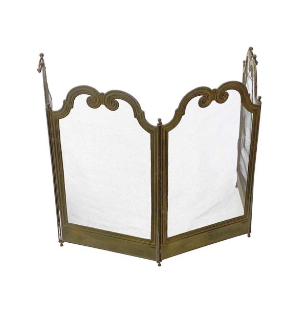 Screens & Covers - Traditional 4 Section Petite French Made Fireplace Screen