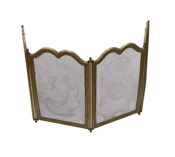 Screens & Covers - Vintage Traditional Brass French Made Fireplace Screen
