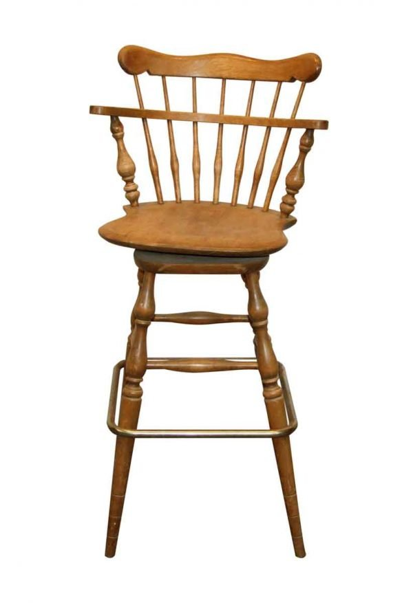 Seating - Vintage Captain Wooden Bar Stool