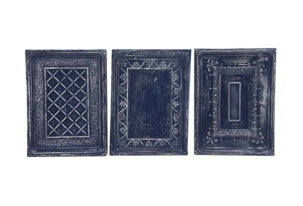 Tin Panels - Handcrafted Antique Navy Blue Ceiling Tin Panel Set