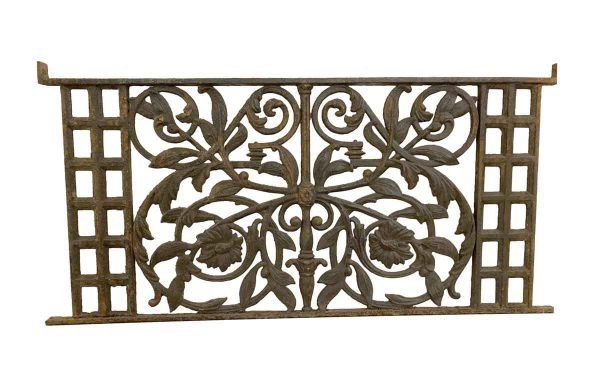 Balconies & Window Guards - 19th Century Heavy Cast Iron Floral 46.5 in. Balcony