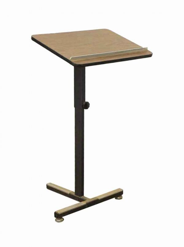 Commercial Furniture - Vintage Modern Counter Height Metal Podium