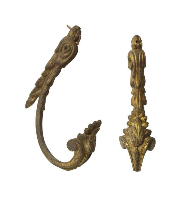 Curtain Hardware - Pair of French Bronze Curtain Tiebacks