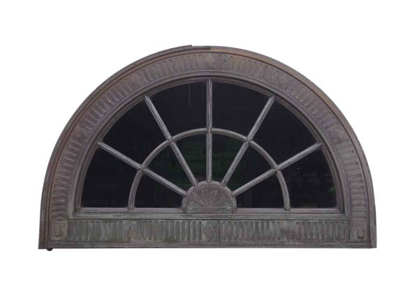 Door Transoms - Reclaimed 5 ft Bronze Beaux Arts Arch Transom