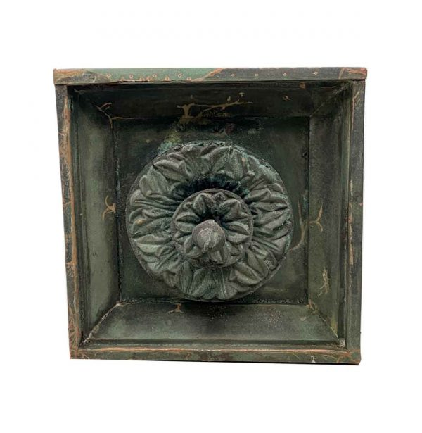 Exterior Materials - 19th Century Square 25 in. Floral Green Copper Facade