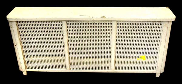 Heating Elements - Reclaimed White Wood Metal 58 in. Radiator Cover