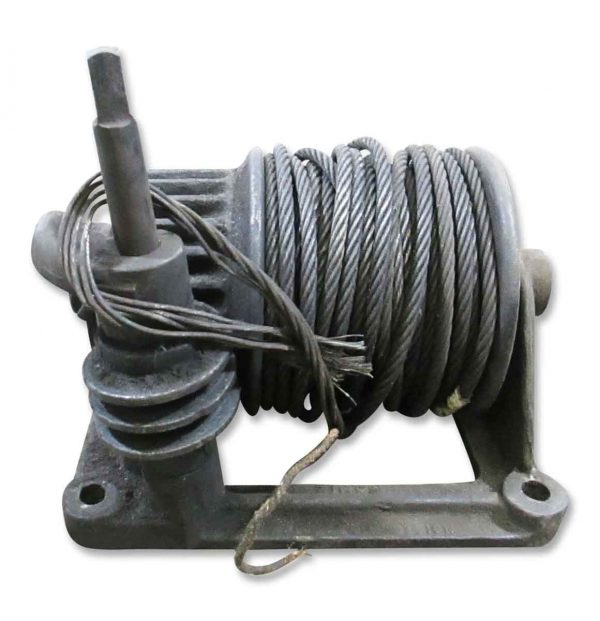 Industrial - Antique Pulley with Metal Wire