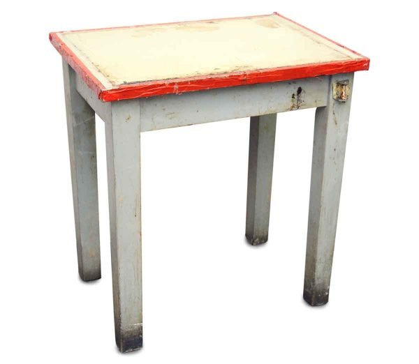 Living Room - Americana Rectangle White Painted Wood Side Table