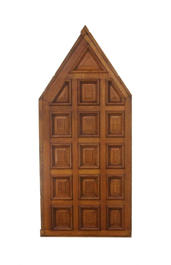 Paneled Rooms & Wainscoting - Antique Pitched 16 Pane Wood Panel 97.25 x 42