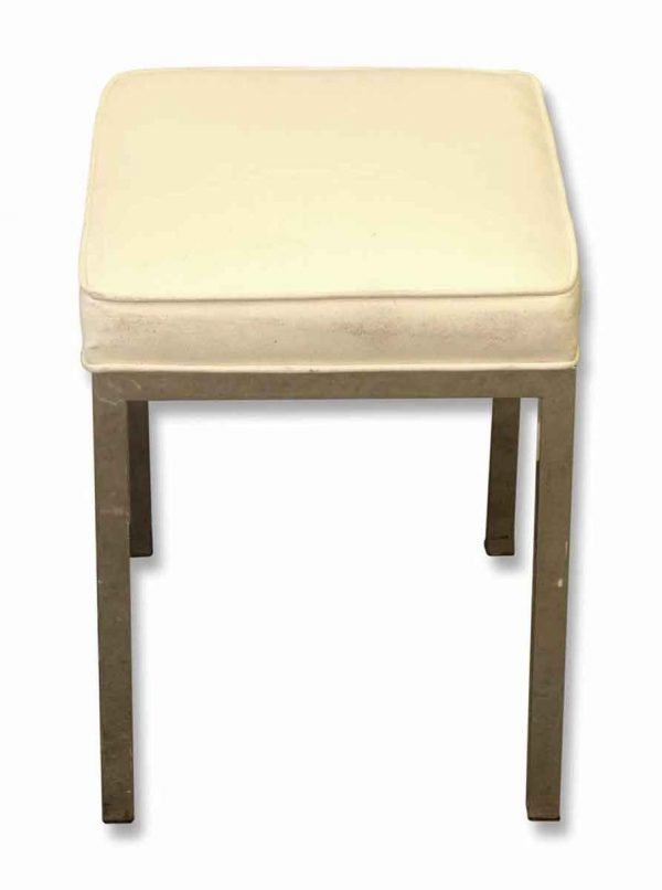 Seating - Modern White Steel 18 in. Stool