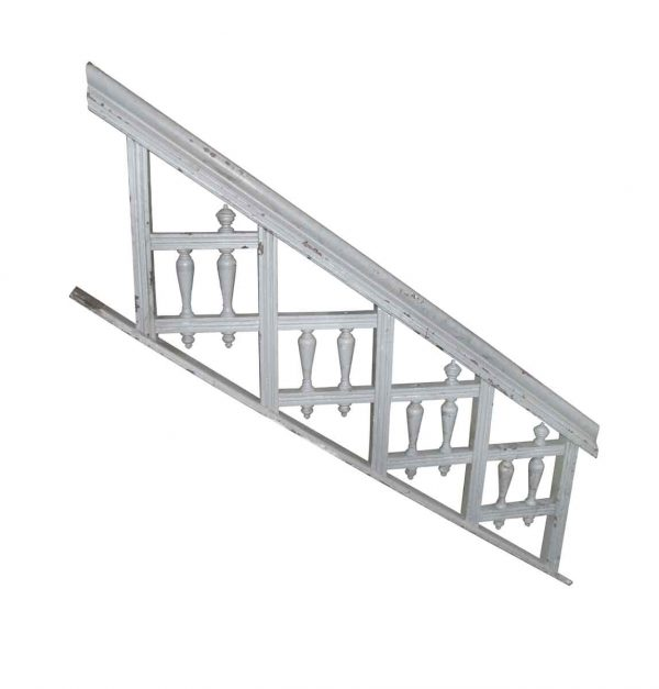 Staircase Elements - Victorian Light Blue Painted 7.25 ft L Wood Stair Railing