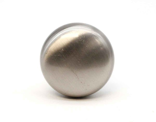 Cabinet & Furniture Knobs - Modern 1.25 in. Brushed Steel Coated Brass Round Cabinet Knobs