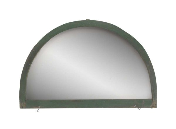 Reclaimed Windows - Reclaimed Green Painted Screened Arched Window 42.5 x 28.375