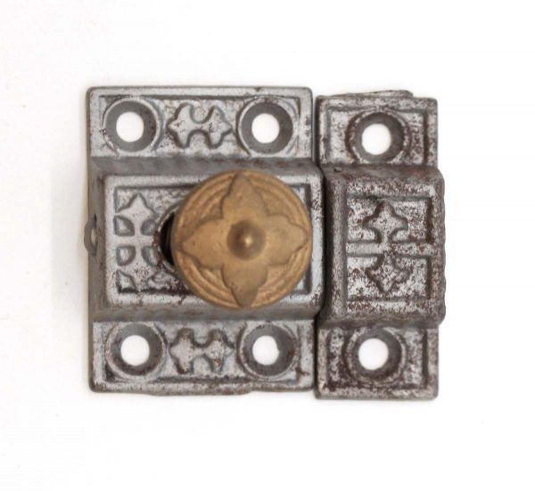 Cabinet & Furniture Latches - Aesthetic Cast Iron Antique Cabinet Latch with Bronze Knob