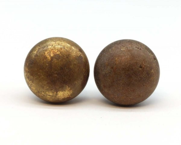 Cabinet & Furniture Knobs - Pair of Classic Cast Brass Cabinet Knobs