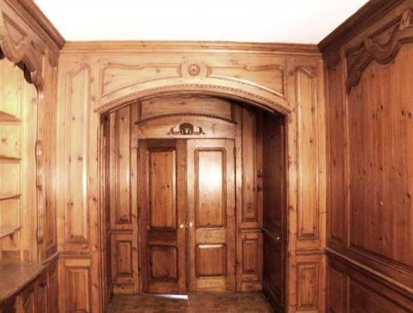 Paneled Rooms & Wainscoting - Reclaimed Antique Knotty Pine Paneled Room