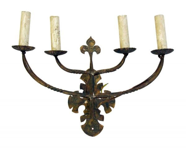 Sconces & Wall Lighting - Antique Arts & Crafts 4 Arm Wall Sconces