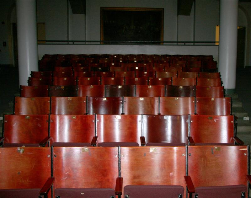 The auditorium seats before removal