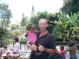 Missionary and Olde Good Things salesman Vinnie at our Thomassin orphanage in December 2009